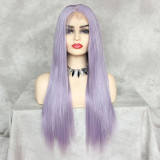 ReadyWig Lavender Purple Silky Straight Hair 13*6 Synthetic Lace Front Wig 22 Inches