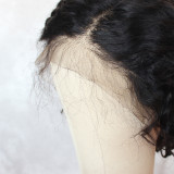 13*6 black Lace Front Human Hair bob Wigs With Baby Hairs