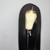 ReadyWig Black Silky Straight Human Hair Lace Wig 22 Inches