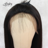 black straight brazilian human hair with blunt bangs