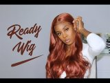 ReadyWig Copper Red Body Wave 13*6 Lace Front Wig 24 Inches