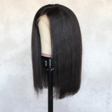 smooth, thick and bouncy human hair minimum shedding, tangling-free, pre-plucked babyhair,high density wig