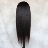 full lace wig ponytail wig straight long silky black wig swiss lace frontal wig for black women
