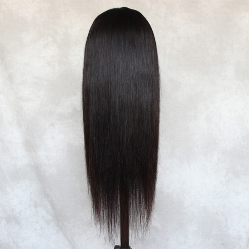 ReadyWig Black Straight Human Hair Full Lace Wig 20 Inches