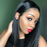 Pre Plucked 13x6 Lace Front Wig Synthetic Short Hair with Baby Hair or Black Women