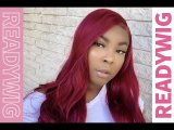 ReadyWig Red Body Wave 13*6 Synthetic Lace Front Wig 24 Inches