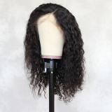 water wave human hair wig, 100% unprocessed human hair Lace part wig 360 deep part swiss lace wigs