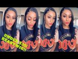 ReadyWig Black Short Straight Hair Synthetic Lace Front Wig 14 Inches
