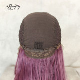 lace part of purple lace wig with natural hairline