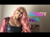 ReadyWig Pink Body Wave Synthetic Lace Front Wig 24 Inches