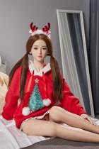 BB Doll ラブドール 155cm普通乳 #Aヘッド Lina 血管&人肌模様など超リアルメイク無料 眉の植毛無料 フルシリコン製