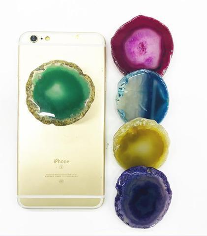 100% Natural Agate Stone Slab phone grip [HIGH QUALITY]