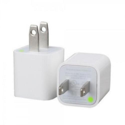 5V 1A USB Wall Charger Adapter for iPhone White Square block