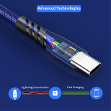 New (private mold) Braided Fabric Mesh Cable fast Charging for iPhone iPad Android Micro V8 Type C