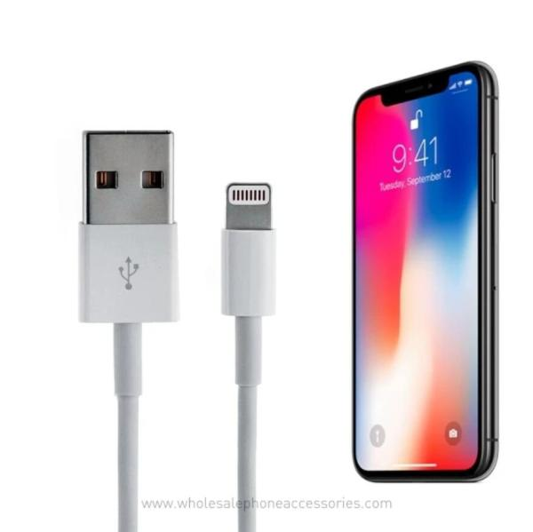 White iPhone USB Cable Charger AA+