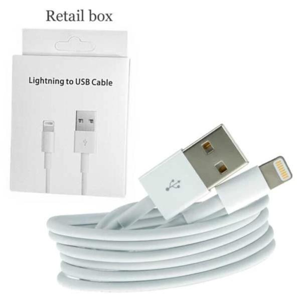 White iPhone USB Cable Charger AA+ 144 Braided