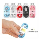 3Ft 2A Fast Charging USB Colourful Cable for iPhone Type C V8/Android