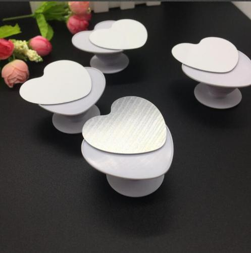 Heart Shaped Plain Blank Sublimation Phone holders with metal disc