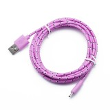 3ft(1M) Nylon Fabric Braided Rugged USB Charger Cable for iPhone Type C Android V8 Micro