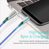 5A Fast Charging Cable Quick charge chip LED Indicator 480Mbps Data Bend-resistant Braided Wire