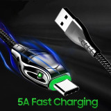 Snake Grain Design 5A High Speed Cable Black Mamba Serpentine Durable Cable