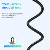 Bending Strength 3.0A Cable Strong Nylon Braided Wire