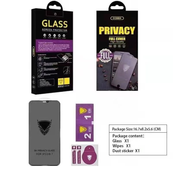 Privacy Golden Armor Screen Protector Tempered Glass Premium