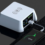 QC 3.0 100W Mobile Charging Station QI Wireless charger 3 USB and 1 PD fast charging