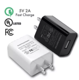 2A 5V UL FCC Certified Universal USB Wall Adapter Fast Charger