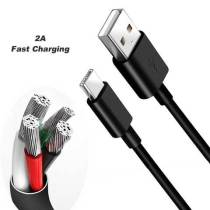 2A Black White Fast Charging Type C Cable Charger