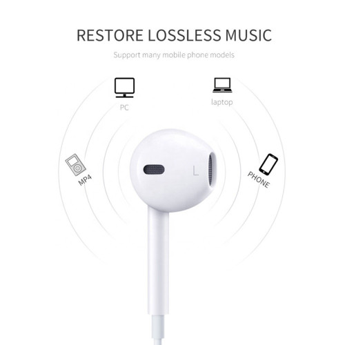 3.5MM Earbuds Noise Reduction Wire Control Earphones