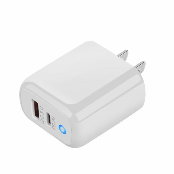 USB C Charger PD + QC3.0 TiiTak Fast Charging 2 Port Charger with 20W USB C Power Adapter, PowerPort PD 2 with Strong Plug