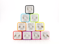 Hot sale Colorful Dual 2 USB Port Home Wall Travel Charger Plug Adapter 5v 2.1A