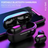 SMS-T14 Wireless Earbuds Bluetooth Headphones Premium Fidelity Sound Quality Wireless Charging Case Waterproof Earphones