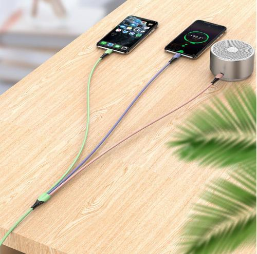 Fashional 3 IN 1 phone cable Type C V8 Micro USB 2.3A phone cable (only power charging) - 3ft