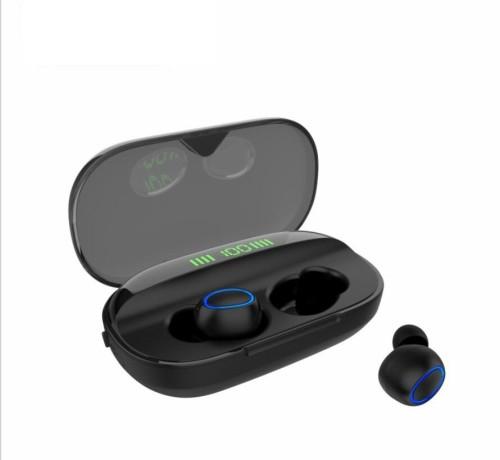 W8 True Wireless In-Ear Headphones - Charging Case Digital LED Intelligence Display, Bluetooth, Fast Pair, Comfortable, Wireless Calls, Music