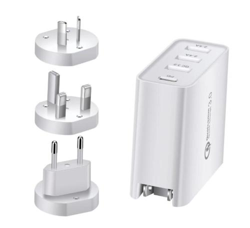 48W PD Speed Wall Charger USB Wall Charger, 4 Port USB Charging Station Multiport Quick Charge 3.0 QC 3.0 Rapid Charger Adapter