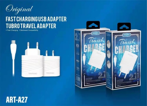 A27 QC 3.0 Fast Charging USB Charger Adapter,Single Port USB Wall Charger,Tubro Travel Adapter with Phone Cable