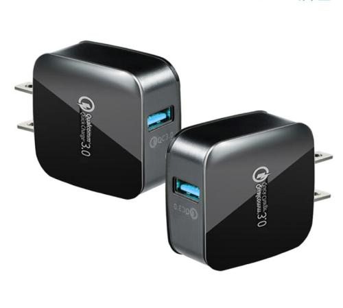 QC 3.0 USB Wall Charger with FCC/CE/ROHS Certificate, 5V/9V/12V USB Fast Chage Travel Charger Adapter with Smart IC Technology