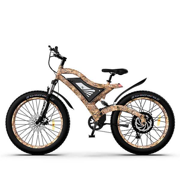 Snakeskin Grain Electric Mountain Bike S18-1500W