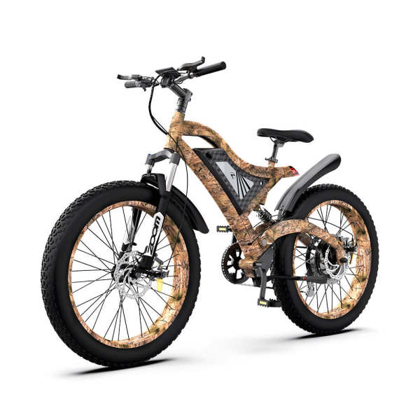 AOSTIRMOTOR 1500W Electric Bike Snakeskin Grain