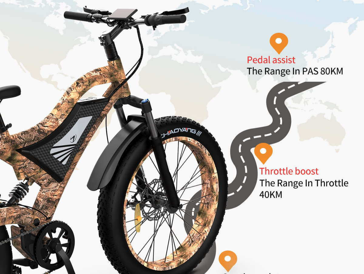 The strongest off-road electric mountain bike is available for reservation