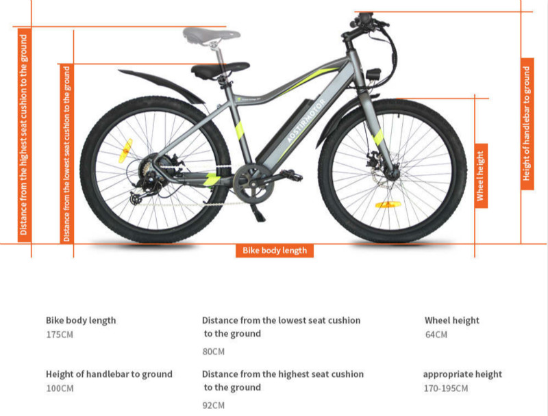 Best commuter electric mountain bike under $1000 AOSTIRMOTOR s03