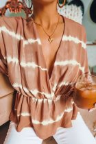 Bomshe Tie-dye Light Camel Blouse