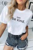 Bomshe Letter Black T-shirt(2 Colors)