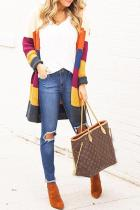 Bomshe Chic Multicolor Patchwork Cardigans