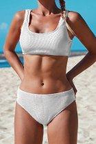 Bomshe Skinny White Bikini Set(5 Colors)
