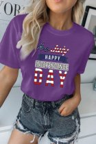 Bomshe Happy Independence Day White T-shirt