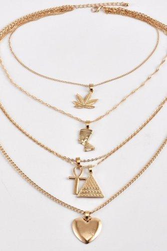 Bomshe Heart Gold Necklace