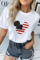 Bomshe Mickey Independence Print White T-shirt(2 Colors)